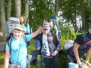 Лагерь Лидер -  настоящие туристы