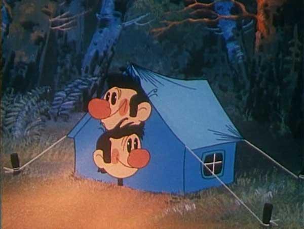 Мишка гугл в туристическом лагере